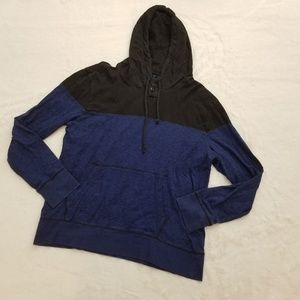 NWOT AEO Hoodie Sweatshirt Men's Blue Black